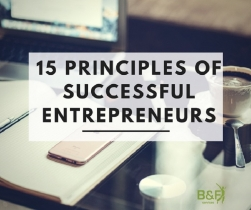 15 Principles of Successful Entrepreneurs
